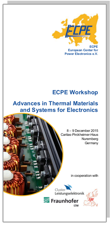 ECPE Workshop: Advances in Thermal Materials and Systems for Electronics