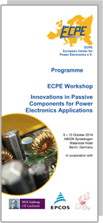 ECPE Workshop: Innovations in Passive Components for Power Electronics Applications