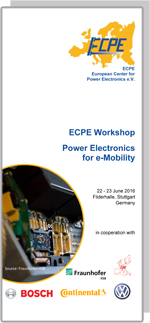 ECPE Workshop: Power Electronics for e-Mobility