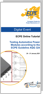 ONLINE | ECPE Online Tutorial: Testing Automotive Power Modules according to the ECPE Guideline AQG 324