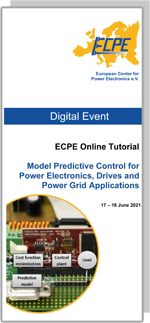 ONLINE | ECPE Online Tutorial: Model Predictive Control for Power Electronics, Drives and Power Grid Applications
