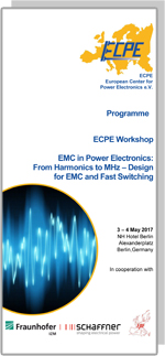 ECPE Workshop: EMC in PE: From Harmonics to MHz – Design for EMC and Fast Switching