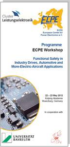 ECPE Workshop: Functional Safety in Industry Drives, Automotive and More-Electric-Aircraft Applications