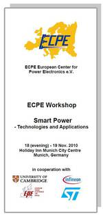 ECPE Workshop: Smart Power - Technologies and Applications