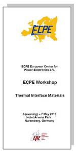 ECPE Workshop: Thermal Interface Materials