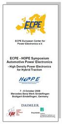 ECPE Workshop: HOPE Symposium Automotive Power Electronics