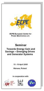 ECPE Workshop: Towards Energy Gain and Savings – Emerging Drives and Generator Systems