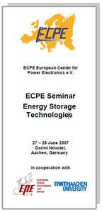 ECPE Workshop:  Energy Storage Technologies