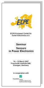 ECPE Workshop: Sensors in Power Electronics
