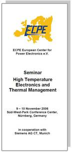 ECPE Workshop: High Temperature Electronics and Thermal Management