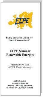 ECPE Workshop: Renewable Energies