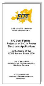 ECPE SiC & GaN User Forum: Potential of SiC in Power Electronics Applications