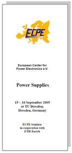 ECPE Workshop: Power Supplies