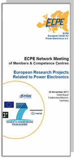 ECPE Network Meeting: European Research Projects Related to Power Electronics